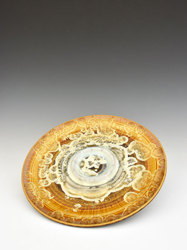 STELLAR BREAD AND OIL PLATE (GOLD/WHITE)
