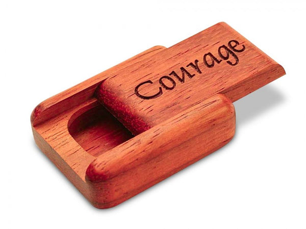 "PADAUK SECRET BOX (1.5"" X 2"") - COURAGE"