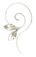 DOUBLE LILY QUESTION EARRINGS - STERLING SILVER