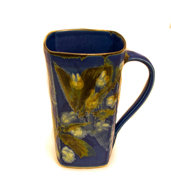 BLUE LARGE SQUARE MUG