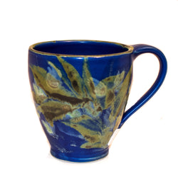 BLUE FAN SHAPED MUG