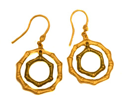 BAMBOO  CIRCLE EARRINGS