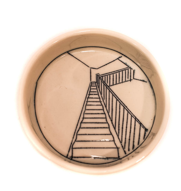 STAIRS TEENY TINY ROUND DISH