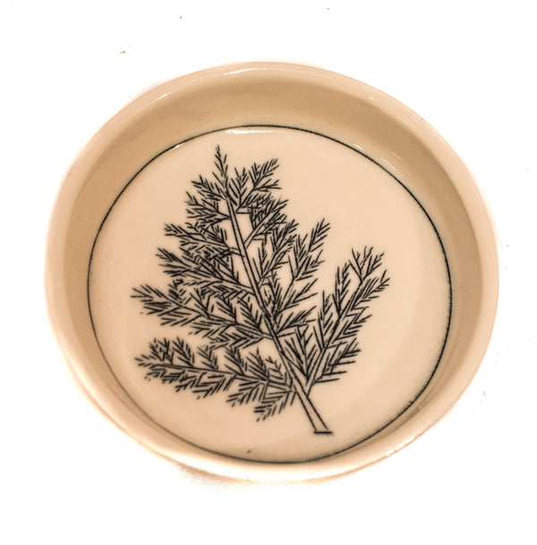 FERN TEENY TINY ROUND DISH
