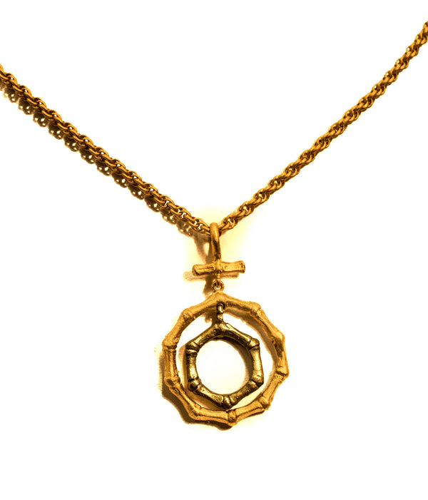"BAMBOO 22""2 CIRCLE NECKLACE"