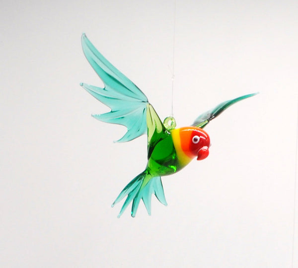 LOVE BIRD GLASS ORNAMENT