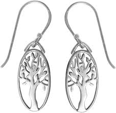 TREE OF LIFE OVAL EARRING