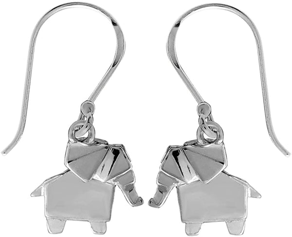ORIGAMI ELEPHANT EARRINGS