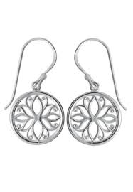 FLOWER MANDALA CIRCLE EARRINGS