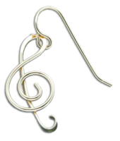 GOLD FILLED MUSIC NOTE EARRINGS