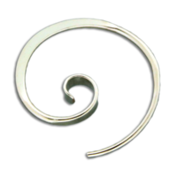 GOLD FILLED FORGED KORU EARRINGS