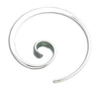 STERLING SILVER FORGED KORU EARRINGS