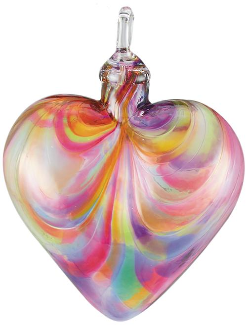 CLASSIC HEART ORNAMENT - RAINBOW