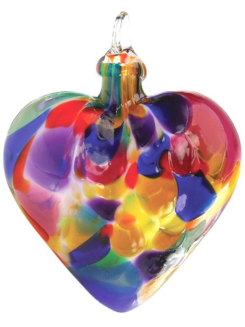 CLASSIC HEART ORNAMENT - FIESTA