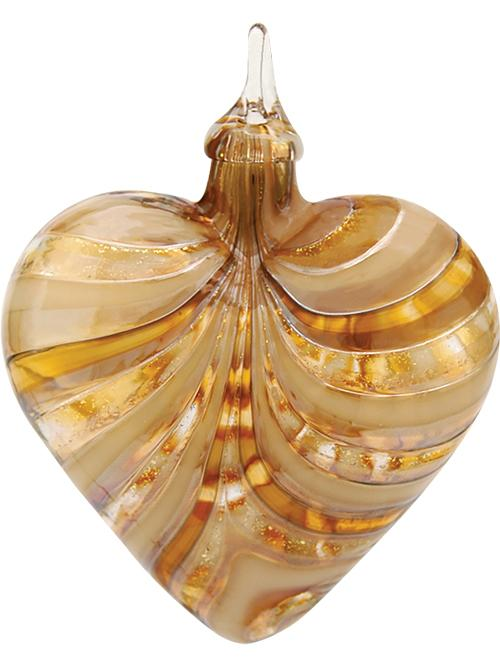 ARTISAN SERIES HEART ORNAMENT - GOLDEN AMBER