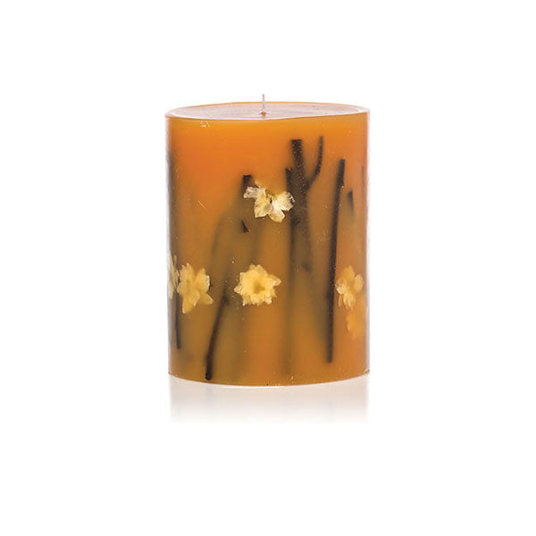 "BOTANICAL CANDLE 5.5"" SMALL ROUND - HONEY TOBACCO"