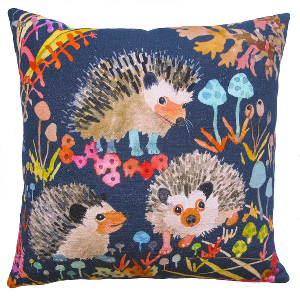 HEDGEHOGS IN NIGHT PILLOW