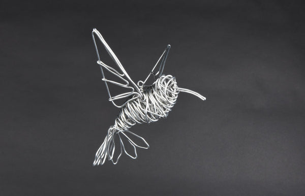 FLYING HUMMINGBIRD SCULPTURE