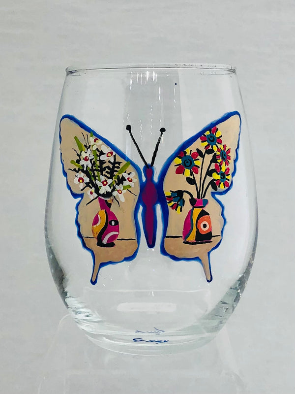 STEMLESS BUTTERFLY WINE GLASS