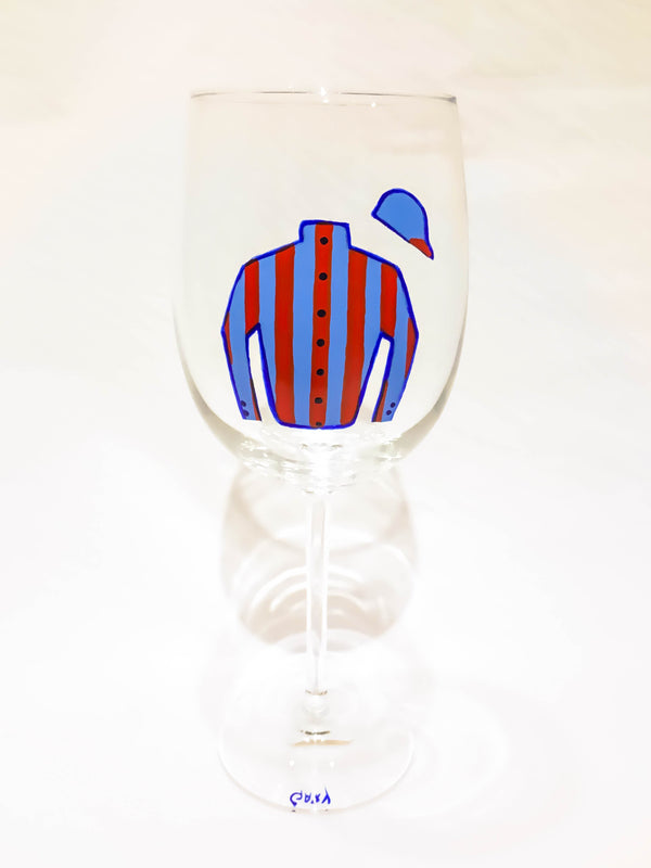 WHITE WINE JOCKEY SILK GLASS