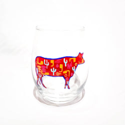 STEMLESS WINE COW GLASS