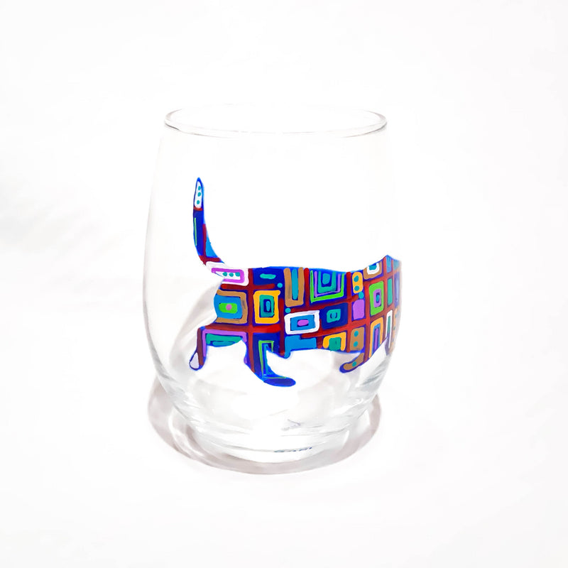 STEMLESS WINE DOG GLASS