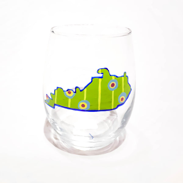 STEMLESS WINE KENTUCKY GLASS