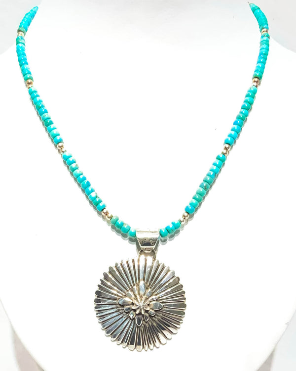 SS CONCHO PENDANT - DUSTY