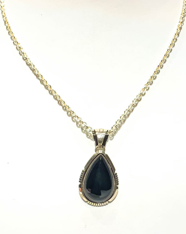 ONYX & STERLING SILVER PENDANT