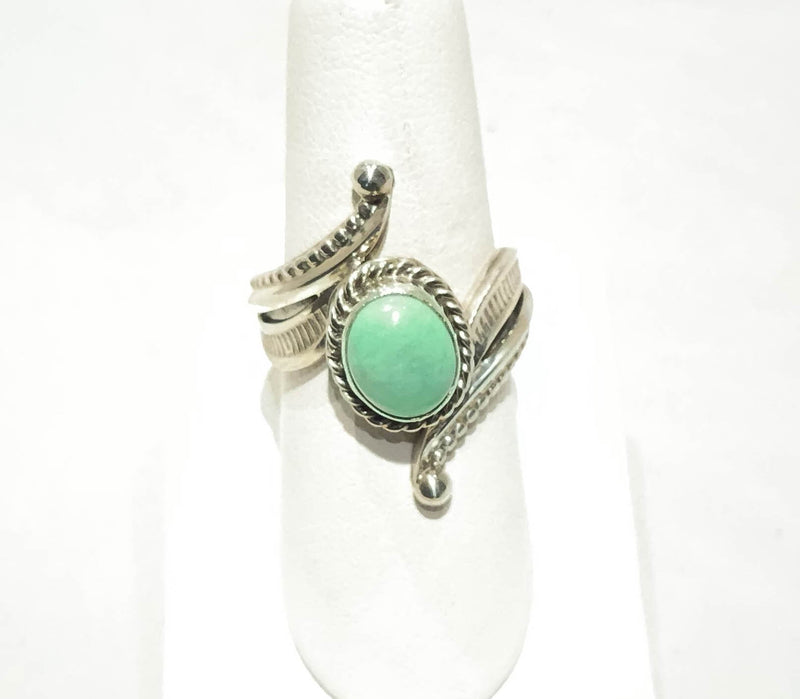 GREEN TURQUOISE CAB RING