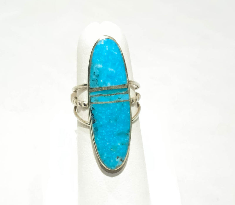 TURQUOISE INLAY STERLING RING