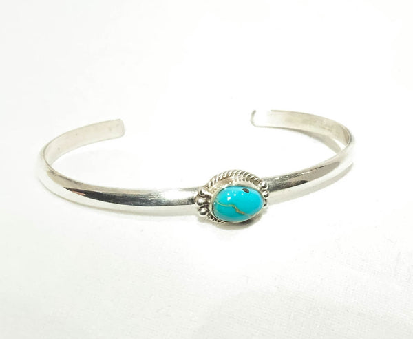 SINGLE TURQUOISE THIN CUFF