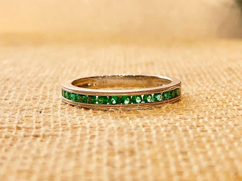 EMERALD WHITE GOLD BAND