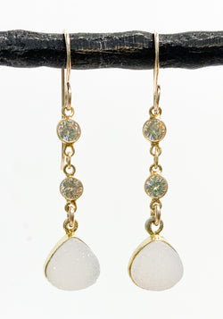 DRUSY/CRYSTAL VERMEIL EARRINGS
