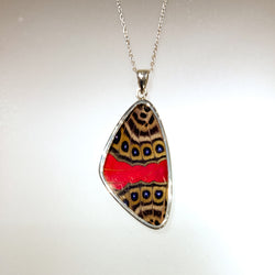 EXTRA-LARGE BUTTERFLY PENDANT - RED/BROWN