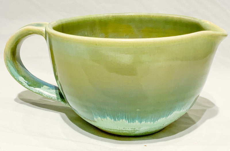 PISTACHIO & MISTY BLUE PITCHER
