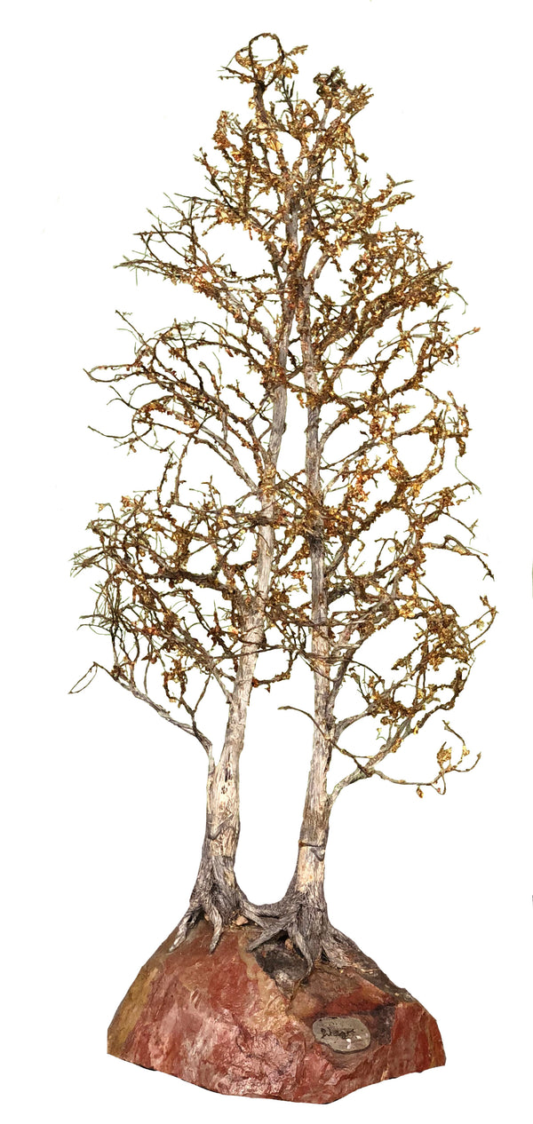 GOLDEN ASPEN WIRE SCULPTURE 30""