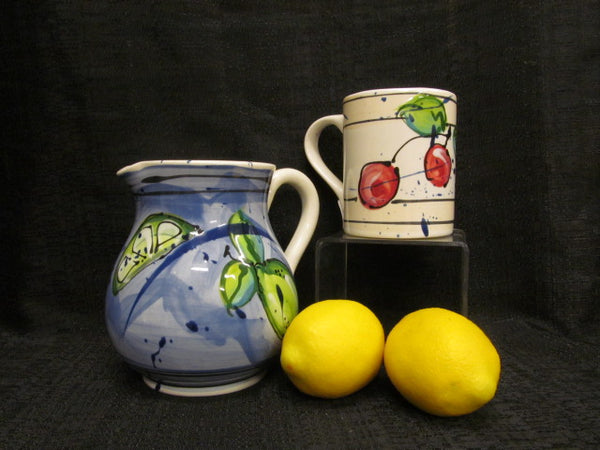MEDIUM BLUE LIME PITCHER