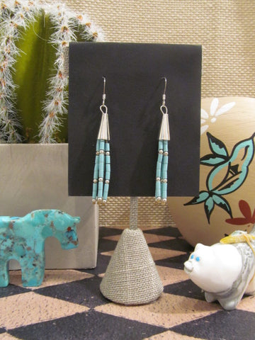 TURQUOISE STRAND EARRINGS