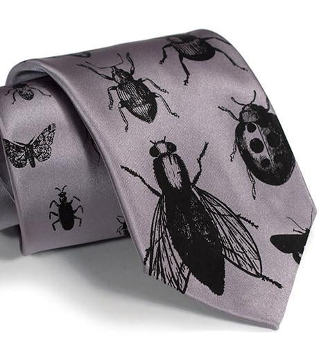 INSECTS SILK NECKTIE