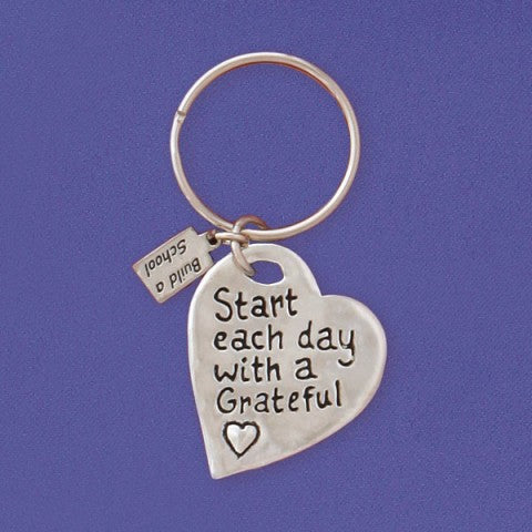 GRATEFUL HEART KEY CHAIN