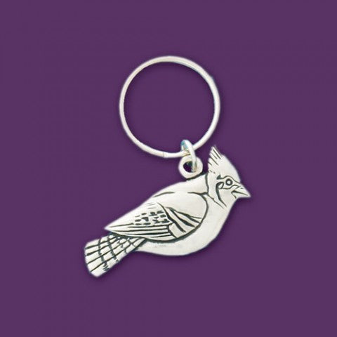 BLUE JAY KEY CHAIN