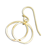 GOLD FILLED TWIN LINK EARRINGS