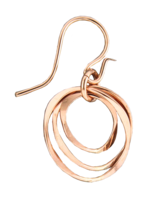ROSE GOLD CURVED ECHO LINK EARRINGS