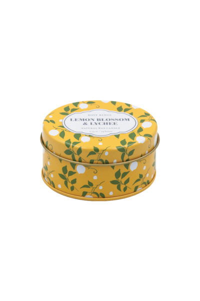 TRAVEL TIN CANDLE - LEMON BLOSSOM AND LYCHEE
