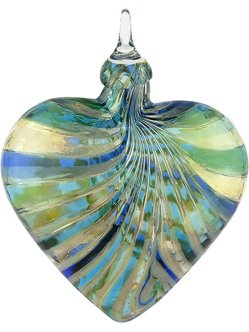 ARTISAN SERIES HEART ORNAMENT - MARINA BLUE