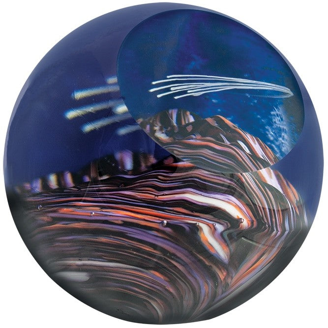 "3"" CELESTIAL SERIES PAPERWEIGHT - METEOR SHOWER"
