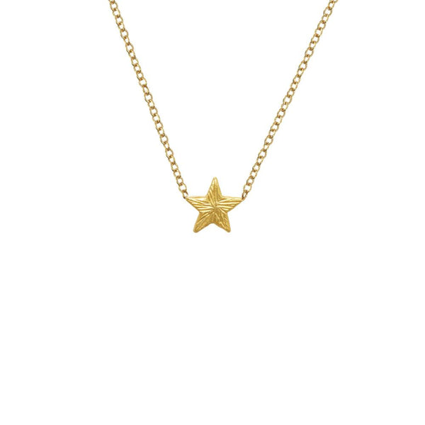 "18K GOLD VERMEIL KOA STAR ON 16"" CHAIN"