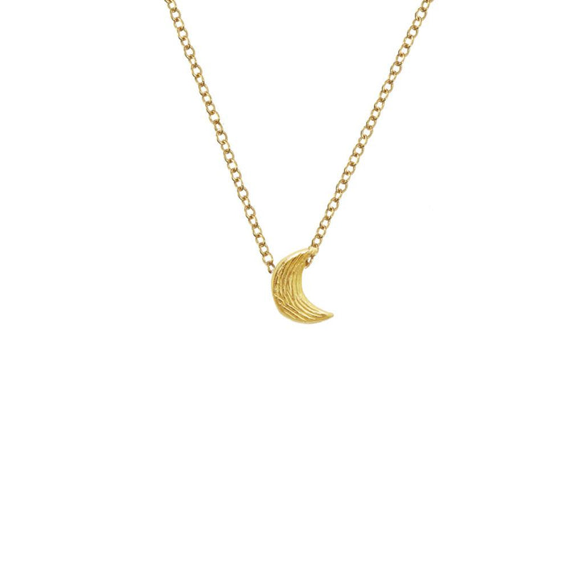 "18K GOLD VERMEIL KOA MOON ON 16"" CHAIN"
