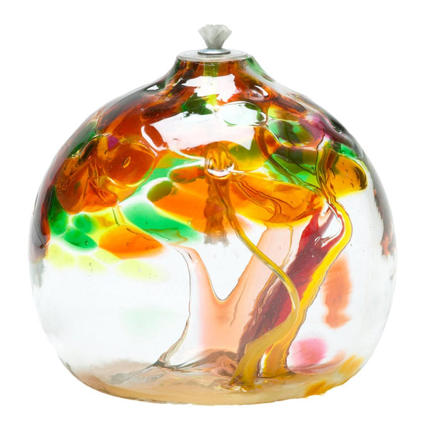 "6"" TREE OF ENCHANTMENT OIL LAMP - AUTUMN"